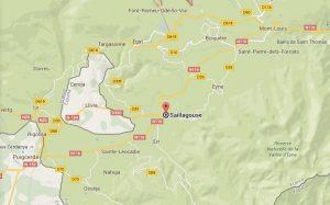 Mapa Saillagouse